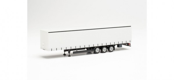 Herpa: Gardinenplanen-Auflieger 15 Meter weiß (077002)