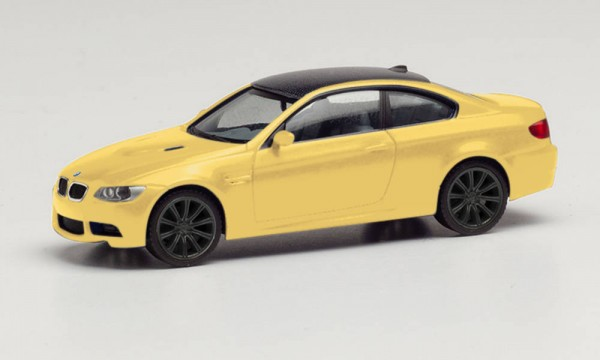 Herpa: BMW M3 Coupé, dakargelb Felgen schwarz (023863-002)