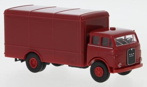 Brekina: MAN 10.212 F Koffer dunkelrot/rot (Economy)