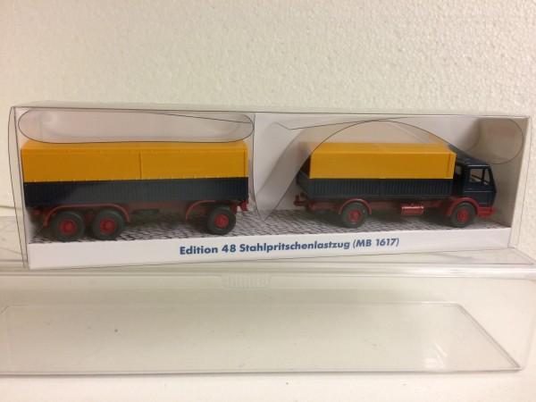 Wiking Mercedes (NG) Stahlpritschen-Hz. stahlblau/gelb