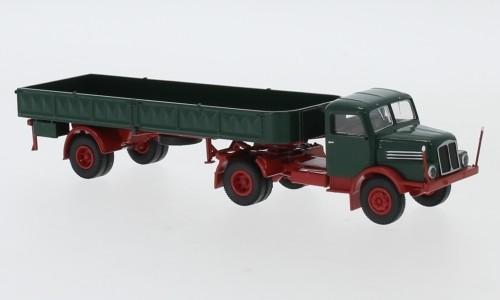 Brekina: IFA S4000-1 Pr.-Sz. dunkelgrün/rot (71402)