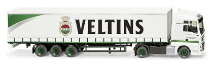 "Wiking MAN TGX Euro 6c Gardinenplanen-Sz. ""Veltins"" (053710)"