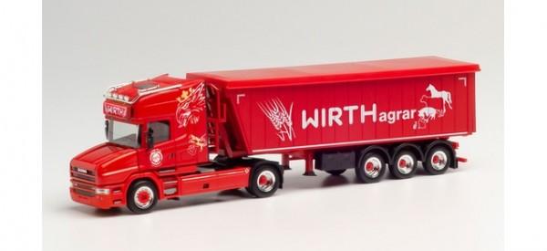 "Herpa Scania Hauber TL Stöffelliner-Sattelzug ""Wirth Agrar"" (313018)"