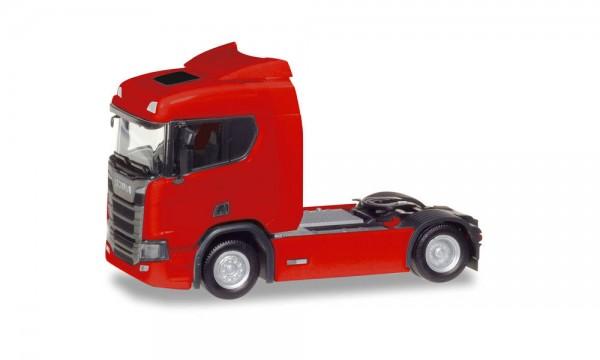 Herpa: Scania CS HD V8 Zugmaschine mit Sonnenblende dunkelgrün (307642-002)