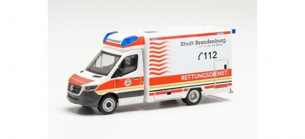 """Herpa: Mercedes-Benz Sprinter '18 Fahrtec RTW """"Rettungsdienst Brandenburg"""" (096591)"""