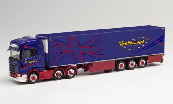 "Herpa: Scania CS 20 HD Kühlkoffer-Sattelzug ""Harrisons"" (Großbritannien/Preston) (312738)"
