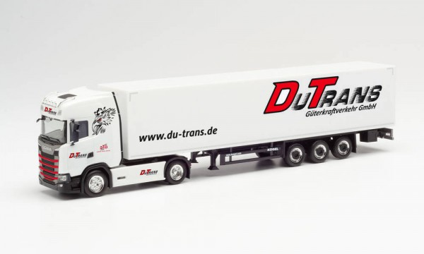 "Herpa Scania CS 20 HD Koffer-Sz. ""Du-Trans / German Truck Driver"" (313490)"