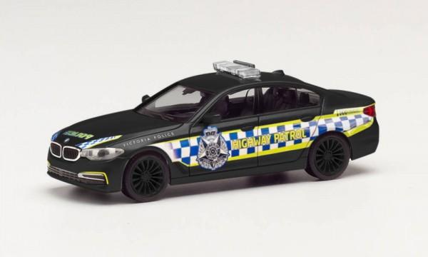 """Herpa BMW 5er Limousine """"Victorian Highway Police"""" schwarz (096089)"""