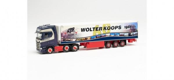 "Herpa: Scania CS 20 HD 6x2 Kühlkoffer-Sattelzug ""Wolter Koops 60 Jahre"" (314367)"