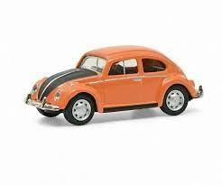 Schuco VW Käfer orange/schwarz (26628)