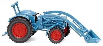 Traktor Eicher Königstiger mit Frontlader hellblau