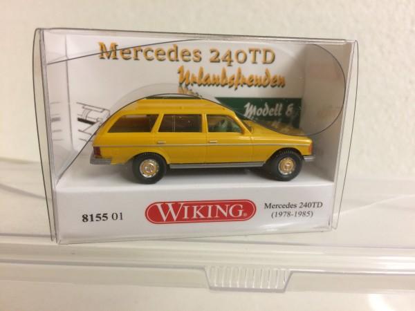 """Wiking Mercedes 240TD mit Schlauchboot """"Urlaubsfreuden"""""""