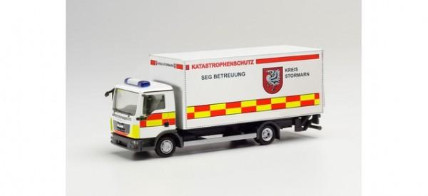 """Herpa: MAN TGL Koffer-LKW mit Ladebordwand """"Katastrophenschutz Kreis Stormarn"""" (096560)"""