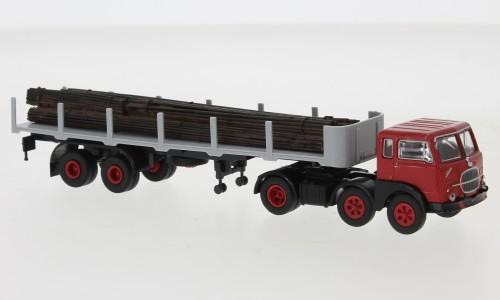 Brekina: Fiat 690 T Rungen-Sz. rot/schwarz mit Ladegut (58508)