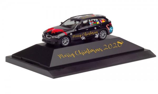 """Herpa BMW 3er Touring """"Herpa Weihnachts-PKW 2020"""" in PC (102162)"""