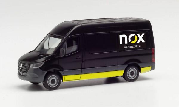 """Herpa Mercedes Sprinter `18 Kasten """"NOX"""" (096102)"""