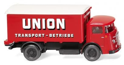 """Wiking Büssing 4500 Koffer-LKW """"Union Transport"""" (047603)"""