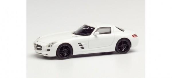 Herpa Mercedes SLS AMG weiß mit schwarzen Felgen (420501)