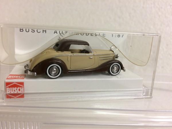 Busch Mercedes 170S Cabrio geschlossen braun/beige (40508)