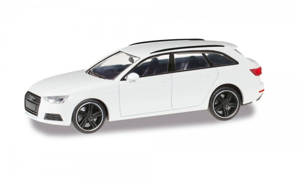 "Herpa: Audi A4 Avant ""Black Edition"" alpinweiss (420884)"