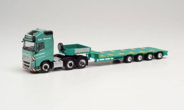 "Herpa: Volvo FH16 Gl. XL Semitieflade-Sz. ""Colossus Logistics"" (314107)"