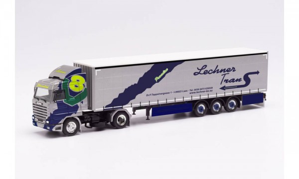 "Herpa Scania 143 420 V8 Streamline Gardinenplanen-Sz. ""Lechner Trans"" (313551)"