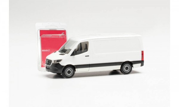 Herpa Minikit: Mercedes Sprinter `18 Kasten Flachdach weiß (013871)