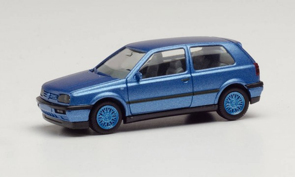 Herpa: VW Golf III VR6 blaumetallic Felgen blau (034074-002)