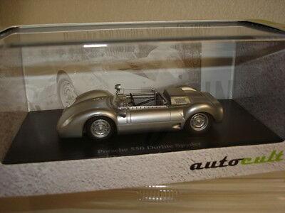 Porsche 550 Durlite Spyder (1959), silber in PC (07007)