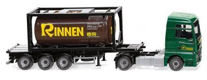 "Wiking MAN TGX Euro 6c Tankcontainer-Sz. 20' ""Rinnen"" (053606)"