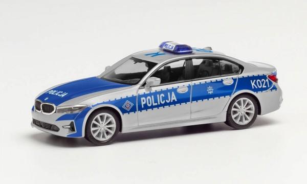"""Herpa BMW 3er Lim. """"Polizei Polen"""" (PL)"""