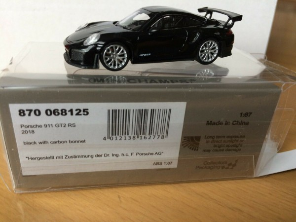 Porsche 911 GT2 RS (2018) schwarz m.carbon bonnet (870068125)