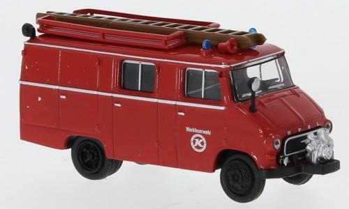 """Brekina: Opel Blitz LF 8 (1959) """"Werkfeuerwehr Kässbohrer"""" (35802)"""