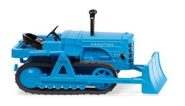 Wiking Hanomag K55 Raupenschlepper mit Räumschild hellblau (084436)