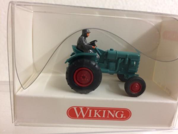 Traktor Fahr D 180 H Schlepper minttürkis