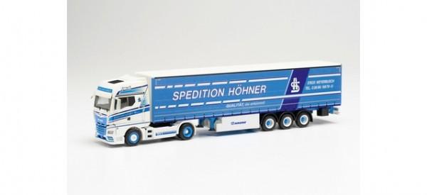 """Herpa: MAN TGX GX Gardinenplanen-Sattelzug """"Höhner"""" (314329)"""