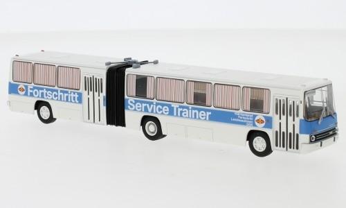 """Brekina: Ikarus 280.03 Gelenkbus """"Fortschritt Service"""" weiß/blau (59756)"""
