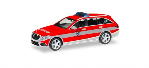"Herpa MB C-Klasse T-Modell Elegance Kommandofahrzeug ""FFw. Saarbrücken"" (096003)"