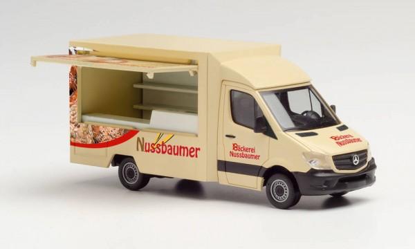 """Herpa: Mercedes-Benz Sprinter 13 Foodtruck """"Bäckerei Nussbaumer"""" (095877)"""