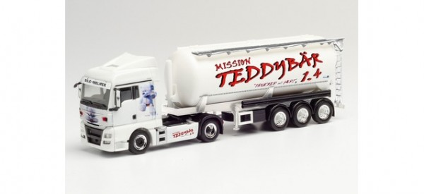 "Herpa MAN TGX XLX Euro6 Silo-Sattelzug ""Silo Melmer / Teddybär 1.4"" (312523)"