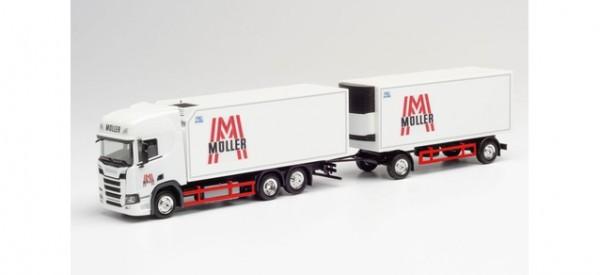 "Herpa Scania CR 20 HD Kühlkf.-Hz. ""Müller"" (312448)"