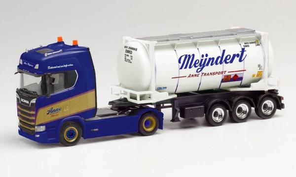 """Herpa: Scania CS 20 HD Swapcontainer-Sattelzug """"Mijndert / Anne"""" (Niederlande/Rotterdam) (312813)"""