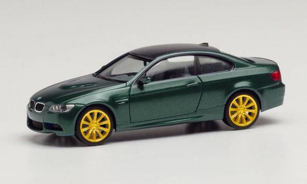 Herpa: BMW M3 Coupé British Racing Green metallic Felgen gold (033862-002)