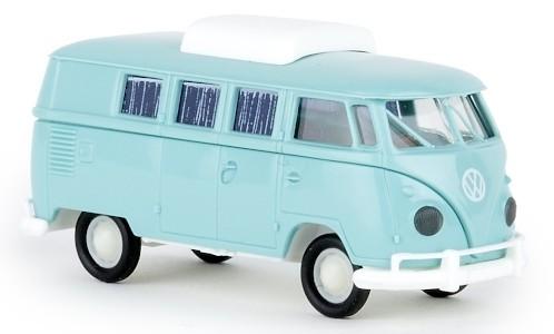 Brekina VW T1b Camper (1960) helltürkis mit Hubdach (31604)