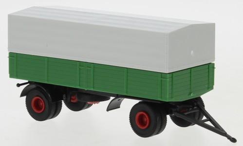Brekina: 2a-Anhänger Pr./Pl. grün/schwarz (55333)