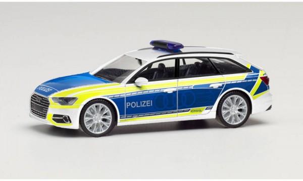 """Herpa Audi A6 Avant """"Polizei / Audi Vorführfahrzeug"""" (096058)"""