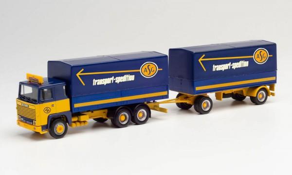 """Herpa Scania 141 Planen-Hz. """"ASG"""" (312585)"""