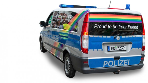 "Herpa Mercedes Vito Bus ""Polizei Bremen / Proud to be a friend"" (941792)"