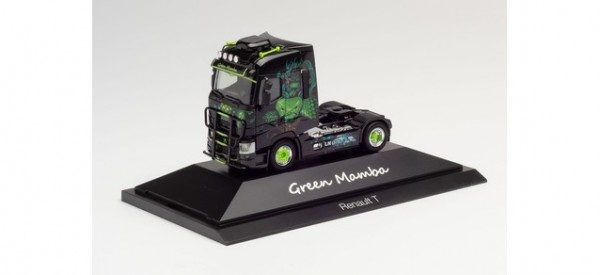 """Herpa Renault T Zugmaschine """"Green Mamba"""" in PC (111010)"""
