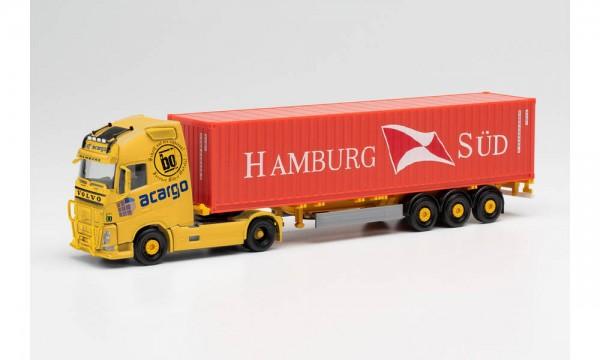 """Herpa Volvo FH Gl XL Container-Sz. """"acargo/Hamburg-Süd"""" (313803)"""